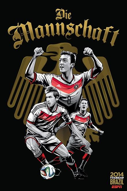 Poster keren world cup 2014 - Jerman
