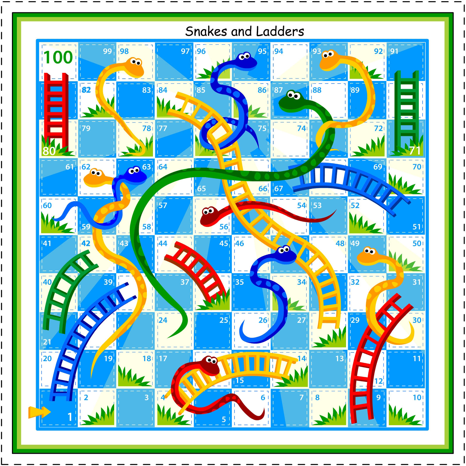 for Make your own snakes and ladders template