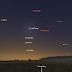 Sao Mộc, Sao Hỏa và Sao Thủy ở bầu trời hướng đông trước khi Mặt Trời mọc trong những ngày cuối tháng bảy này