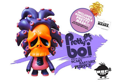Pretty Boi Scary Bastard Purple Resin Figure by Erick Scarecrow