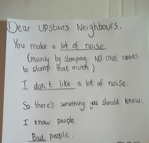 Best Way To Deal With Noisy Upstairs Neighbors