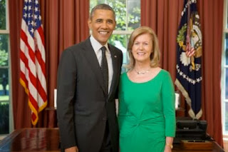 President Obama and new Irish Ambassador Anne Anderson.