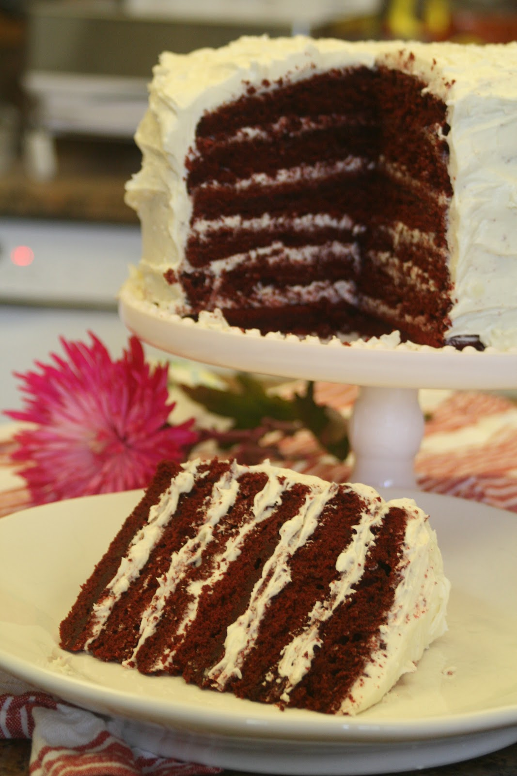 Young Grasshopper: Red Velvet Mile High Cake with White Chocolate ...