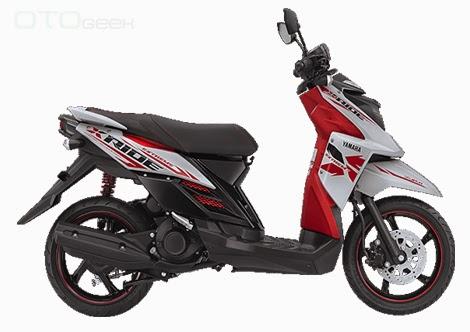 gambar motor yamaha x ride putih