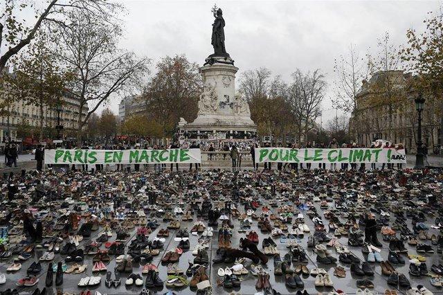 Marcha Clima zapatos COP21
