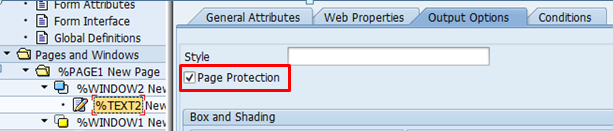 Page Protection in Smartforms