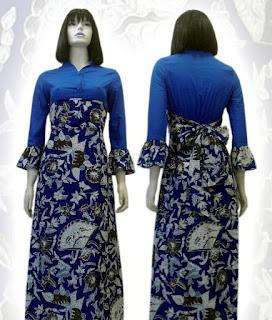 Foto Baju Batik Gamis Modifikasi