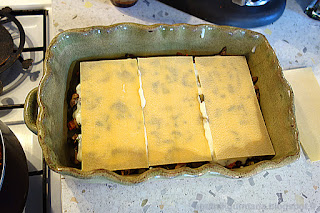 Лазанья с цуккини и шампиньонами-приготовление