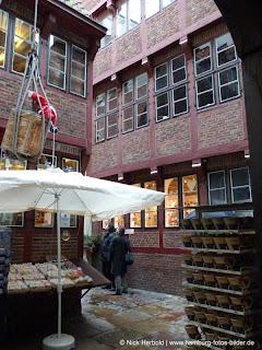 Innenhof der Krameramtsstuben in Hamburg
