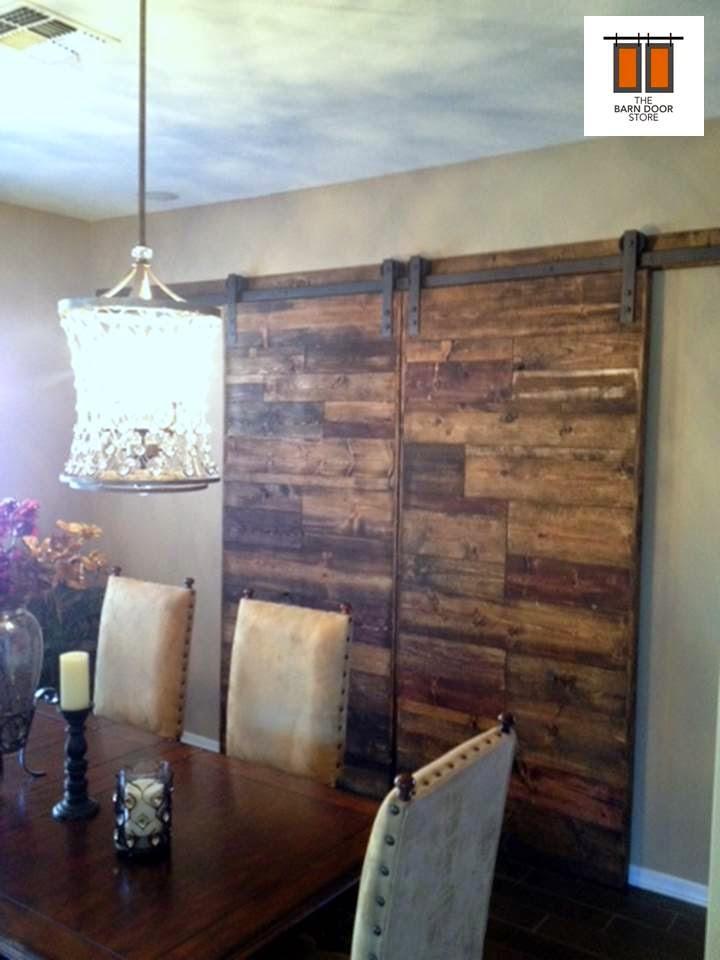 Horizontal Mixed Plank Blend Barn Door