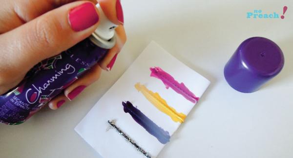 DIY: faça Grampos de cabelo coloridos usando esmalte