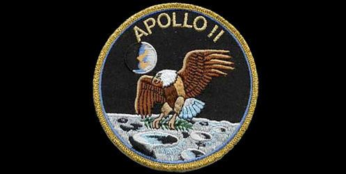 Apollo 11 mission emblem patch. Credit: collectspace.com