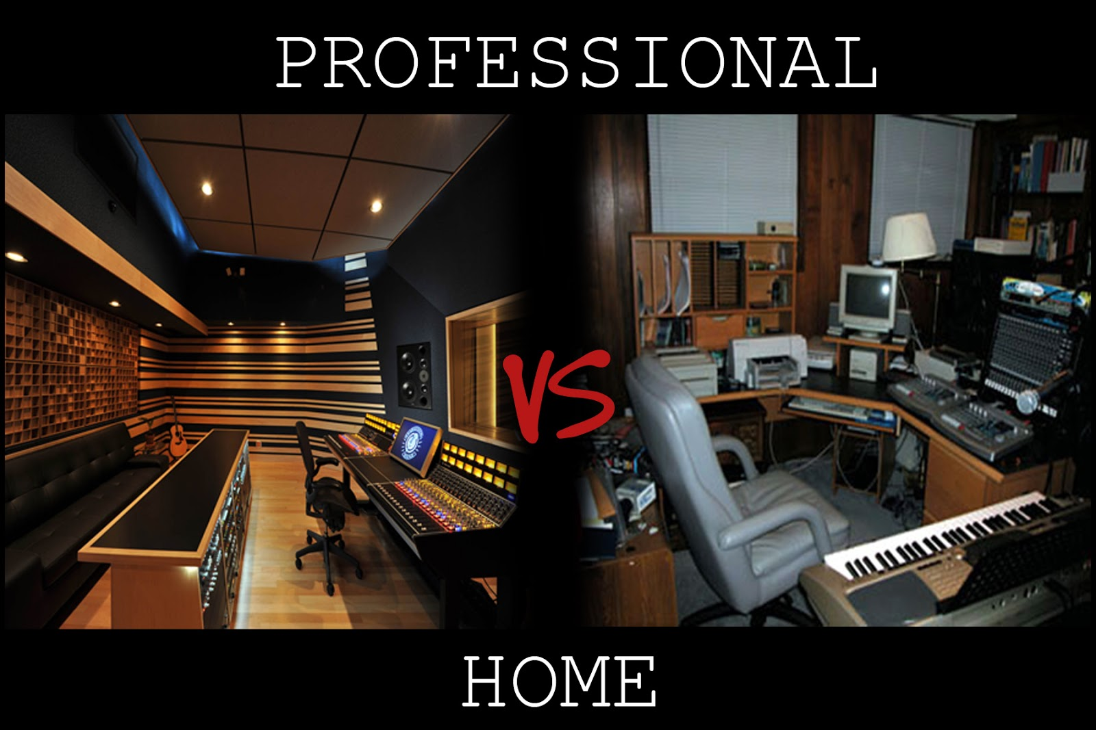 Professional Studio Space vs. Home Recording Studio: studio-setups.blogspot.com/2012/12/professional-vs-home.html