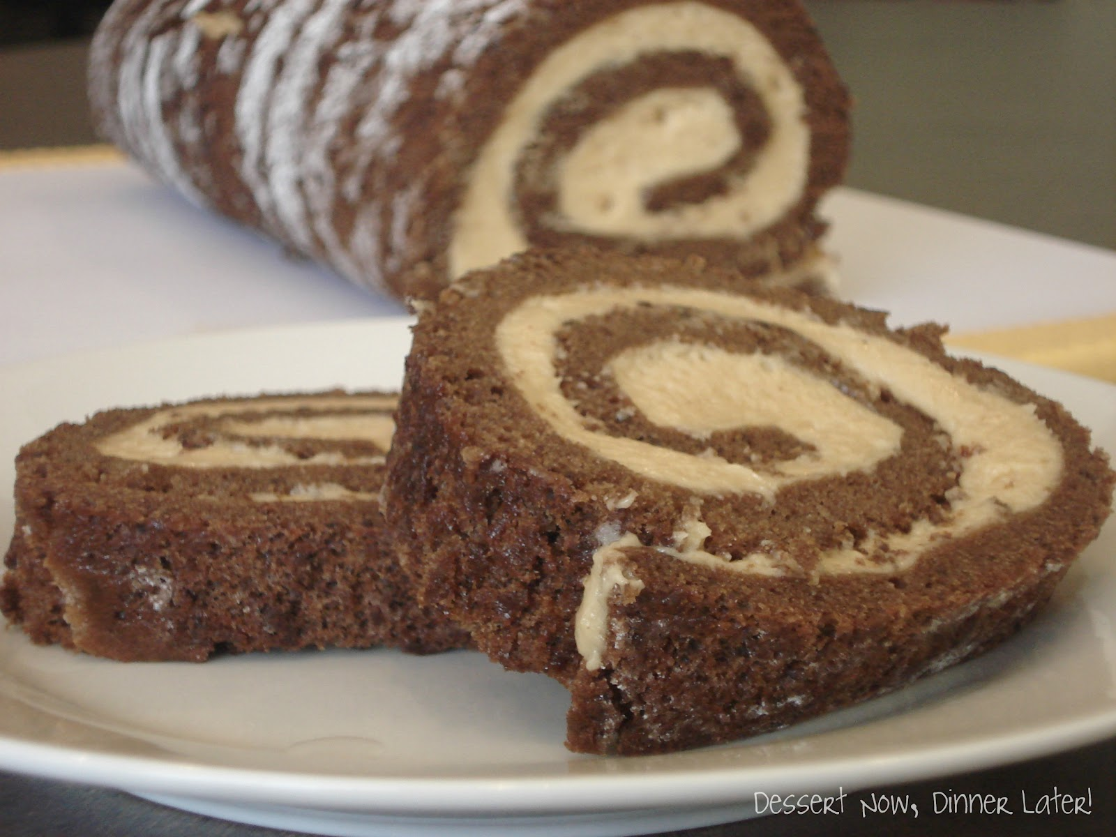 ... , Dinner Later!: Chocolate Roulade with Whipped Peanut Butter Filling