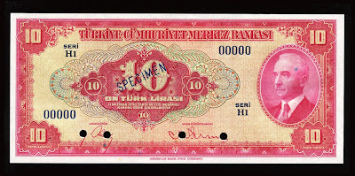 Turkey banknotes currency notes money Ten Turkish Lira