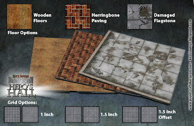 Kev's Lounge Dungeon: Hero's Hall Dungeon Tile Options