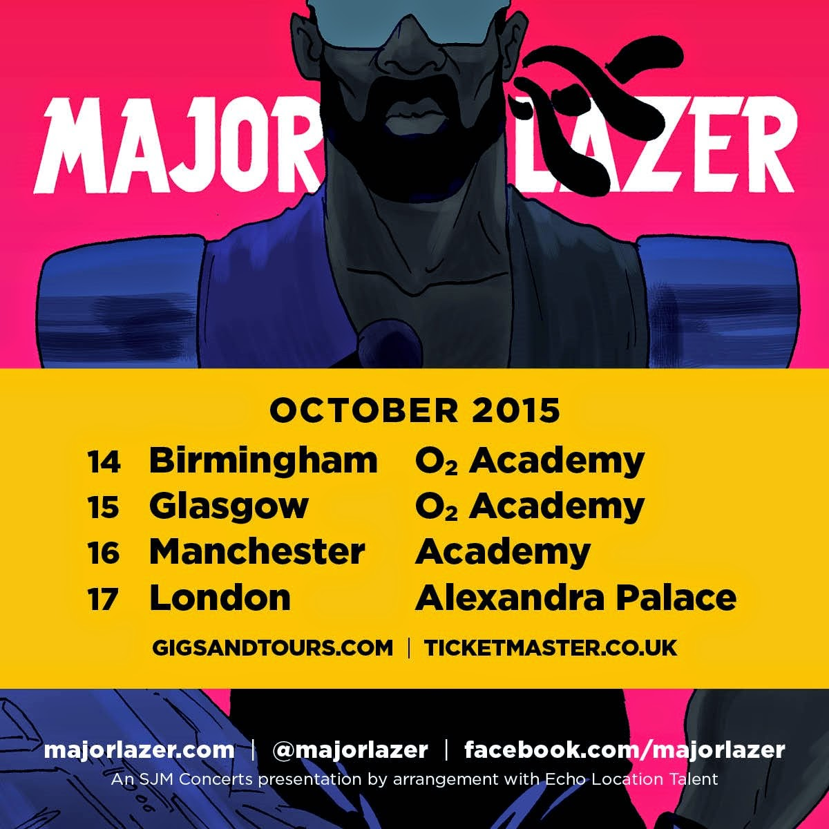 Major Lazer UK tour dates for 2015