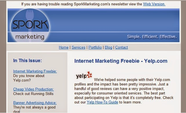 Sample Business Email Slim Image – Sample Business Newsletter
