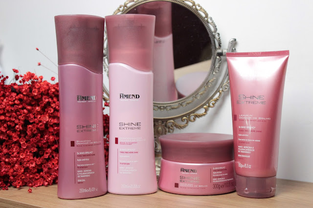 amend, shine extreme, hidratação, brilho, maciez, produto abbb, fashion mimi, cronograma capilar, cabelo, cuidados capilares