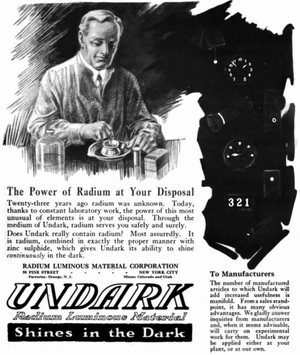 undark radium luminous material advert edited radio chicas del radio girls