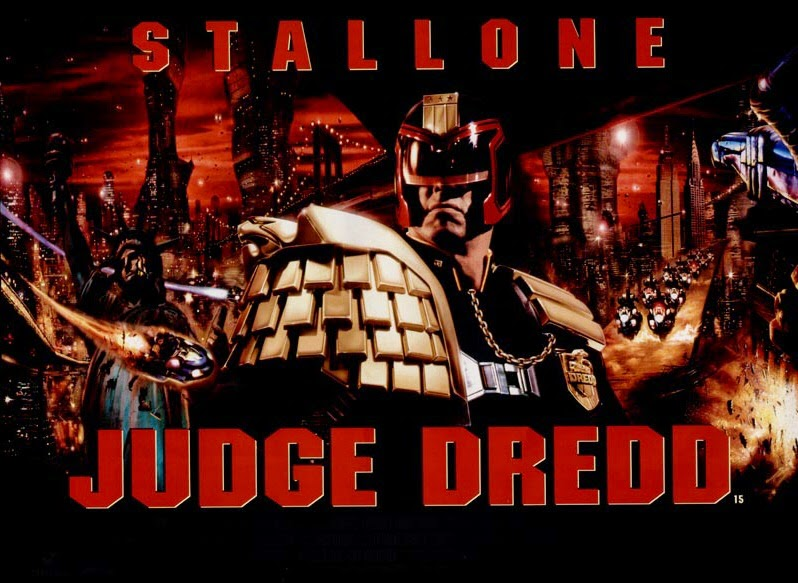 Judge Dredd (released in 1995) - Starring Sylvester Stallone, Diane Lane, Rob Schneider - Future of society