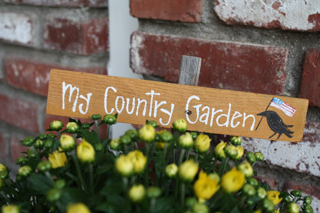 country garden sign