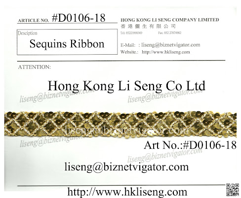 Sequins Ribbon Manufacturer - Hong Kong Li Seng Co Ltd