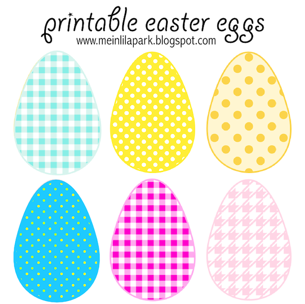 today i created these free printable easter eggs in 3 different sizes for you there are checkered patterned along with polka dot eggs in bold pink