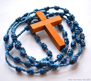 #21 Winter Blue Variegated Rosary