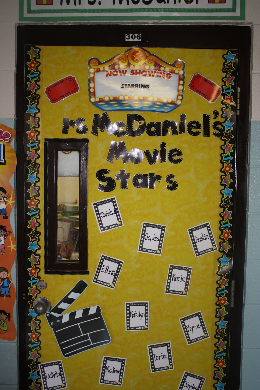 Classroom Decor Stars ~ Pixie chicks making a year monday door decor