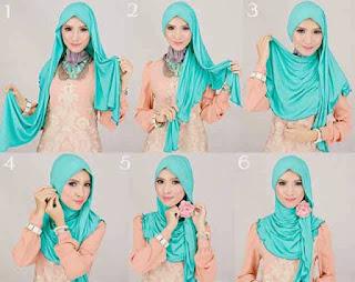 model jilbab pashmina untuk ke pesta