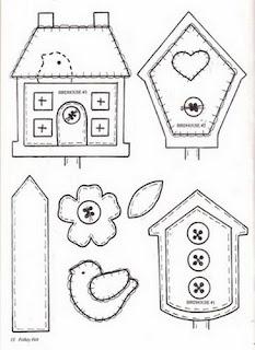 moldes casinhas de eva
