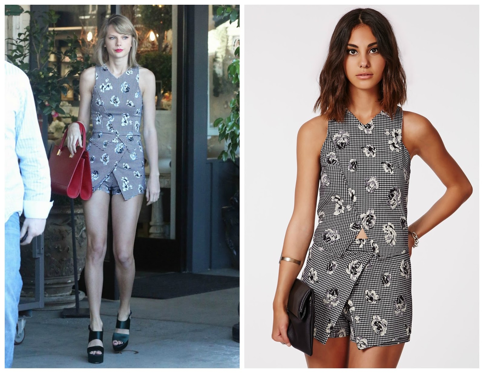 taylor swift missguided dogstooth coord