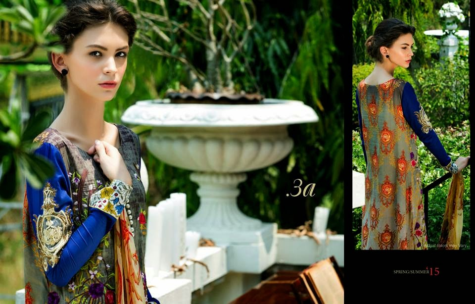 Spring luxury lawn collection 2015
