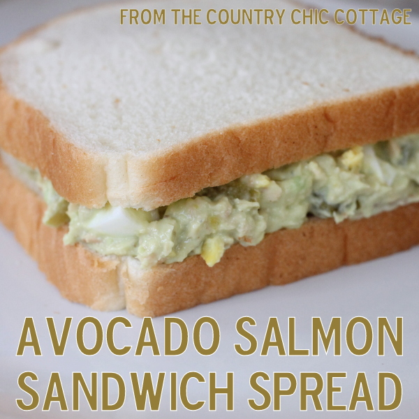 Avocado Salmon Sandwich Spread -- a low fat alternative to tuna salad!