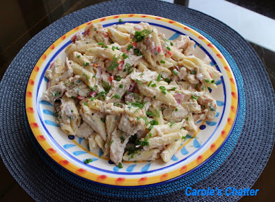 Smoked Chicken pasta salad