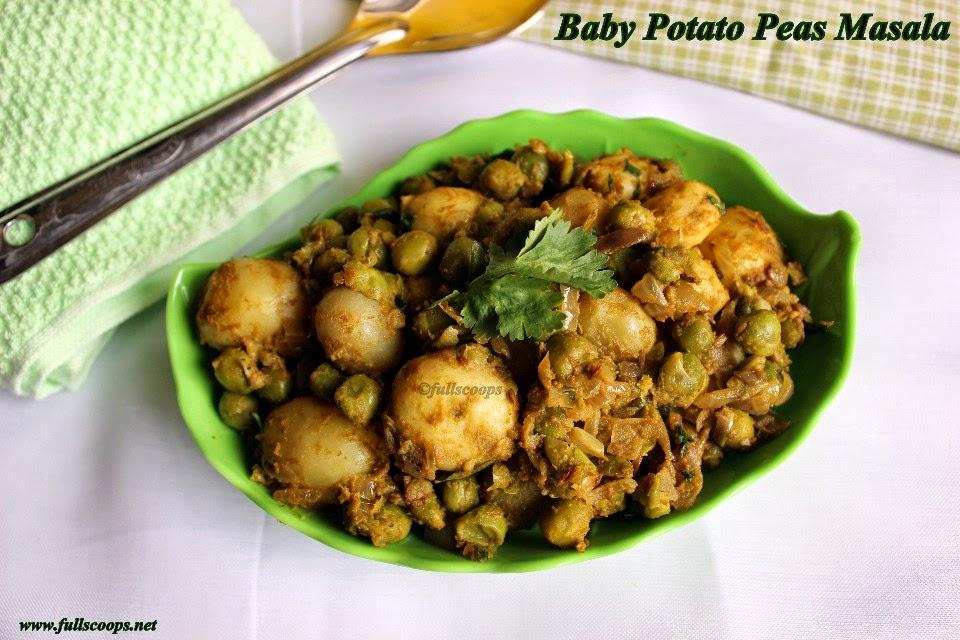 Baby Potato Peas Masala