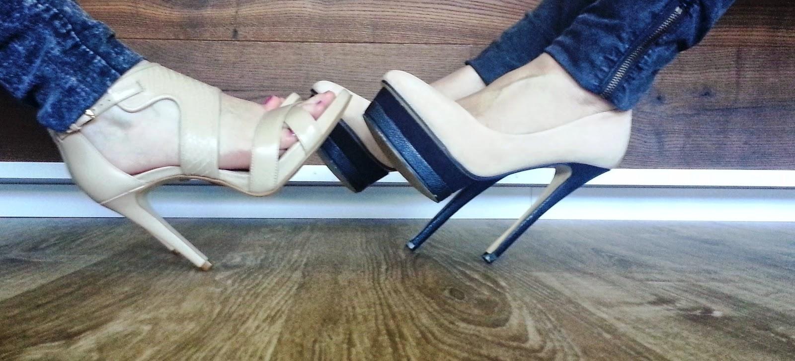Super schöne High Heels auf Laminat
