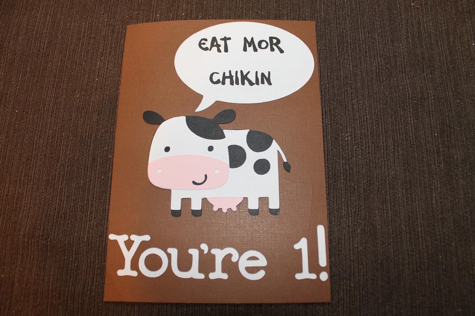 Cricut Birthday Cards Free ~ Life is good chick fil a birthday card