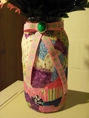 Collage Jar for my Flowers