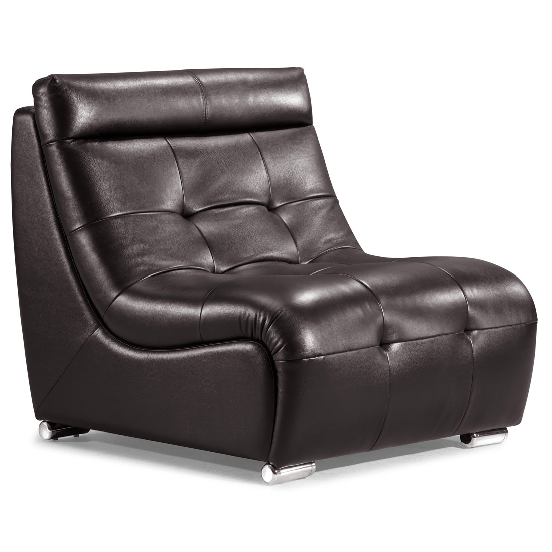 Leather sofa designs single best design home for Chair design leather