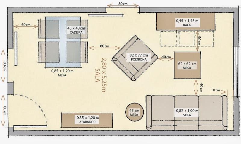 Arquitetura e interiores dimensionamento m nimo dos ambientes for Sala de estar larga