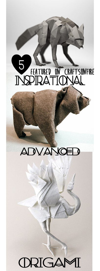 inspirational origami, advanced origami, origami, origami bear, origami dragon, advanced origami dragon, dragon, origami bird, inspiration