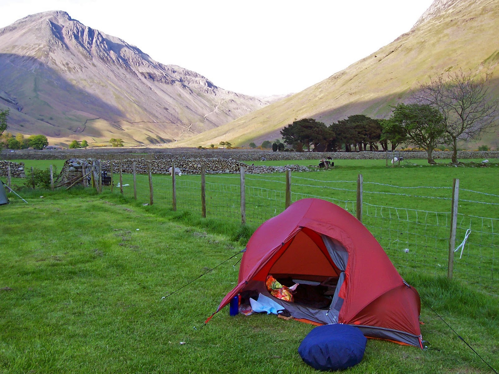 This tent was a TNF Particle 13 u2014 not a bad tent but heavy by modern standards and tricky to get a perfect pitch. & Ten years ago   Alex Roddie: editor and outdoor writer