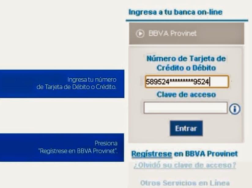 Provinet, nuevos usuarios, claves, BBVA Provincial