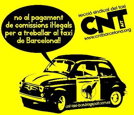 CAMPANYA CONTRA LES COMISSIONS I LA CORRUPCIÓ AL TAXI