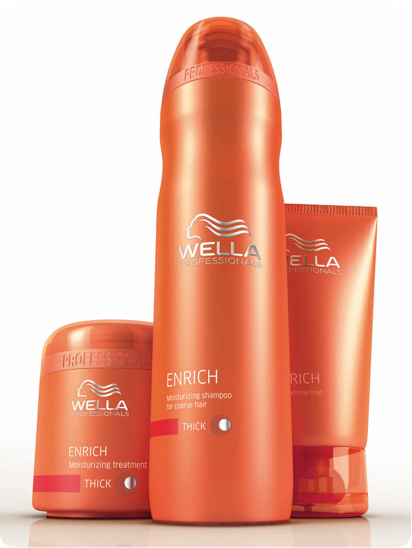 Pamper proof wella professional care enrich shampoo - Wella salon professional hair products ...