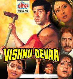 Vishnu-Devaa (1991 - movie_langauge) - Sunny Deol, Aditya Pancholi, Neelam, Sangeeta Bijlani, Kulbhushan Kharbanda, Aruna Irani, Alok Nath, Danny Denzongpa, Sharat Saxena, Annu Kapoor, Veerendra Saxena, Johnny Lever, Kunika, Viju Khote, Jagdish Raj
