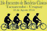 Encuentro de bicicletas clásicas en Tacuarembó (25/ago/2014)