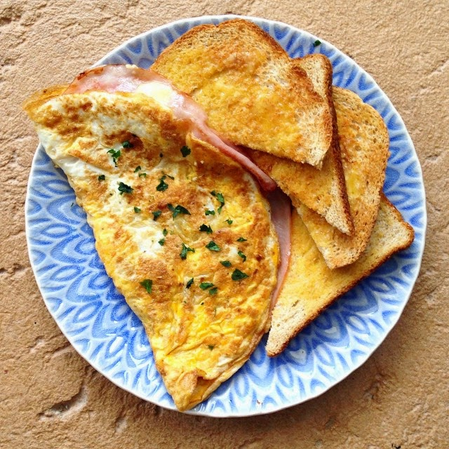 Perfect Ham and Cheese Omelette